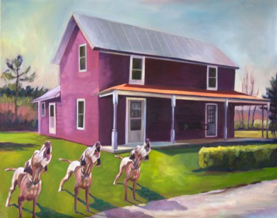 Three Howling Dogs & The Purple House