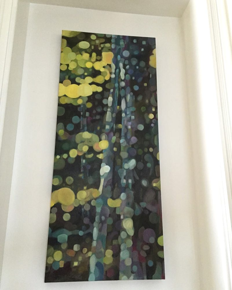 abstract forest painting blog