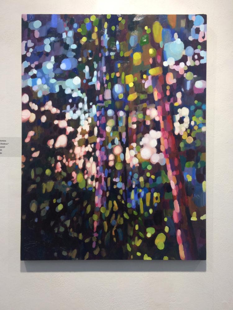 abstract oil painting trees karen rumora