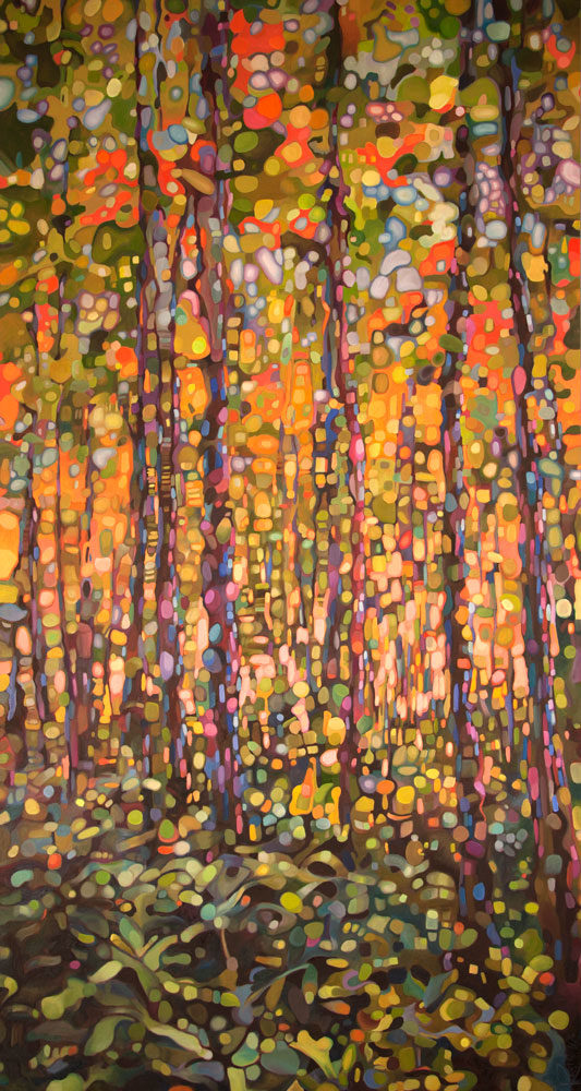 abstract oil painting trees karen rumora