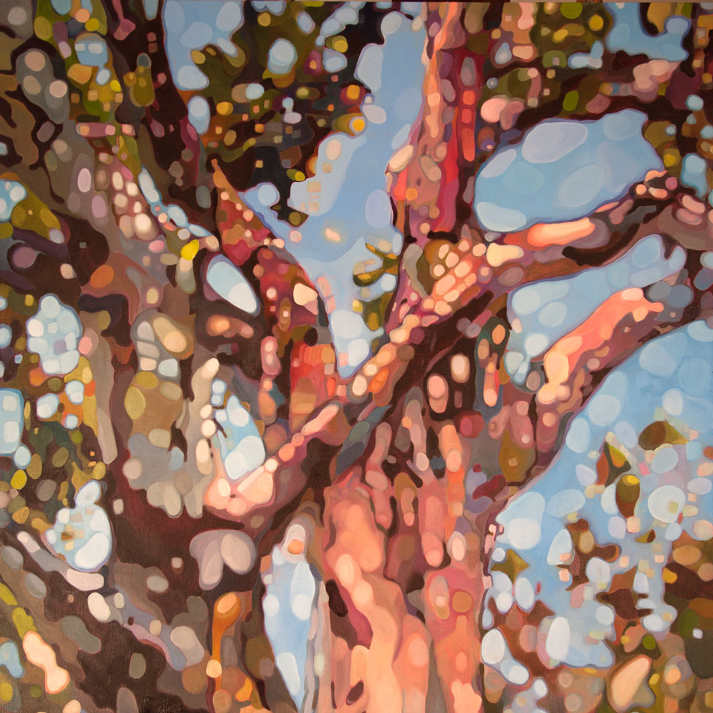 abstract oil painting tree karen rumora